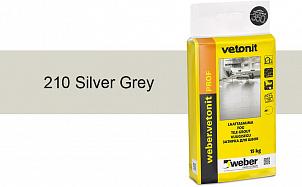 Затирка для швов weber.vetonit Prof 210 Silv grey 15 кг