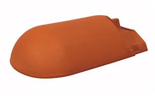 Керамическая черепица начальная хребтовая Koramic № 16 Natural Red