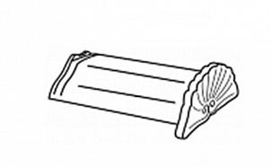 Керамическая начальная коньковая черепица BRAAS Саттель черный бриллиант топ-глазурь