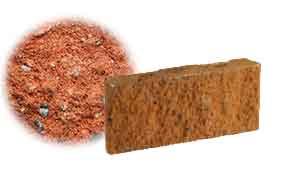 Облицовочный бетонный камень рядовой Меликонполар СКЦ 2Л-17 красный 3%