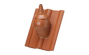 Комплект для прохода через кровлю кабеля или антенной штанги BRAAS Адриа коричневый