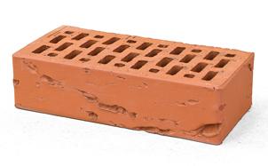 Кирпич лицевой керамический BRAER пустотелый красный кора дуба
