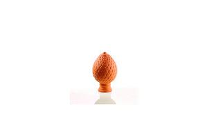Керамические фигурки CREATON Артишок (Artischcke) высота 40 см цвет красный глазурь