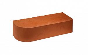 Кирпич облицовочный радиусный полнотелый Terca Red гладкий
