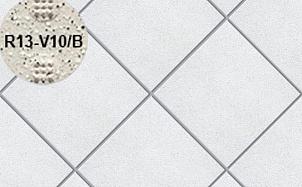 Плитка напольная для промышленных помещений Stroeher Secuton ТS05 brilliant weis (R13-V10/B)