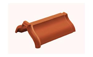 Керамическая черепица коньковая/хребтовая Koramic № 8 Natural Red