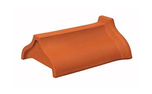Керамическая черепица конечная коньковая Koramic № 8 Red Engobe