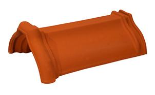 Керамическая черепица коньковая/хребтовая Koramic № 2 Copper Brown Engobe