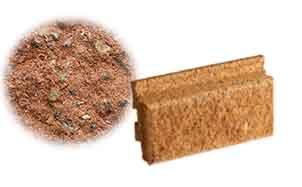 Облицовочный бетонный камень Меликонполар Polarik красный 1