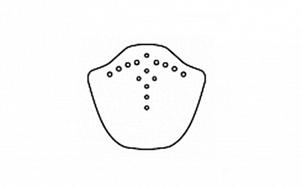 Коньковый торцевой элемент BRAAS Саттель глубокий черный глазурь