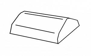 Конечная коньковая черепица BRAAS Турмалин кедр глазурь