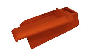 Керамическая черепица боковая подконьковая правая Koramic Alegra 10 Red Engobe
