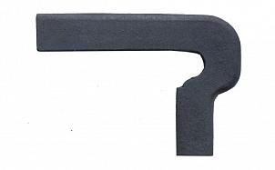 Клинкерный плитнус ступени левый Gres de Breda Basalto модель B