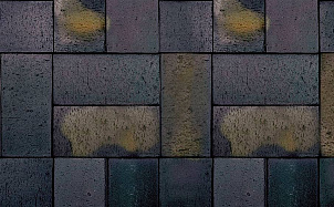 Тротуарная клинкерная брусчатка Roben Schwabing schwarz-buntgeflammt gefast