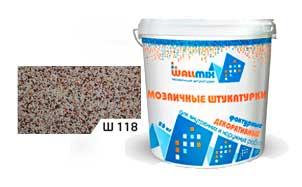 Цветная мозаичная штукатурка WallMix Ш118 Velour 0
