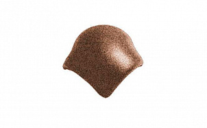 Цементно-песчаная вальмовая черепица с зажимом конька (3 штуки) BRAAS Адриа коричневая