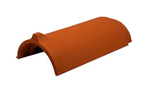 Керамическая черепица коньковая/хребтовая Koramic №1 Old red