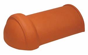 Керамическая черепица начальная хребтовая Koramic № 15 Red Engobe