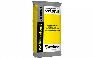 Безусадочный раствор weber.vetonit JB 600/3