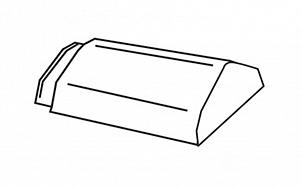 Керамическая начальная коньковая черепица BRAAS Турмалин глубокий черный глазурь
