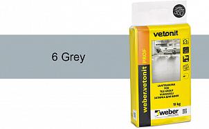Затирка для швов weber.vetonit Prof 6 Grey 15 кг
