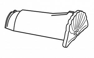 Керамическая начальная коньковая черепица BRAAS Опал черный кристалл топ-глазурь