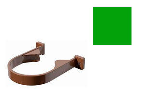 Хомут трубы Verat зеленый