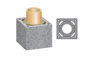 Керамический дымоход SCHIEDEL UNI одноходовой 1 п.м