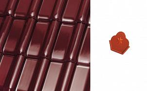 Коньковый начальный торцевой элемент Roben MONZAplus трентино глянцевый ангоб