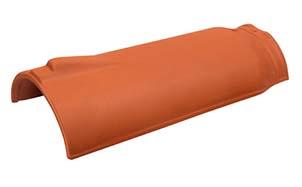 Керамическая черепица коньковая/хребтовая Koramic № 5 Copper Brown Engobe