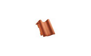 Керамическая черепица боковая пультовая левая CREATON Eleganz темно-коричневый ангоб