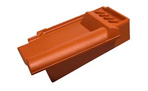 Керамическая черепица боковая подконьковая правая Koramic Alegra 8 Copper Brown Engobe