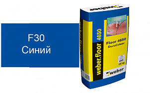 Цветной наливной пол weber.vetonit 4650 F30 синий