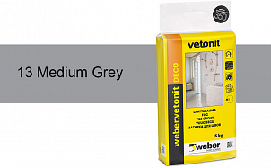 Затирка для швов weber.vetonit Deco 13 Med grey
