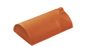 Керамическая черепица конечная коньковая Koramic №1 Dark grey