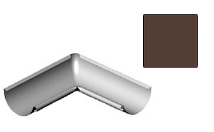 Угол желоба внутренний CM Vattern темно-коричневый 135 град.