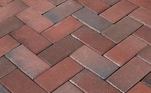 Тротуарная клинкерная брусчатка Penter Rotblaubunt без фаски