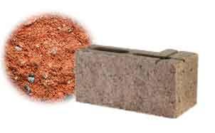 Облицовочный бетонный камень угловой Меликонполар СКЦ 2Л-4 красный 3%