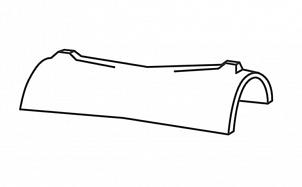 Керамическая центральная коньковая черепица BRAAS Опал антрацит ангоб