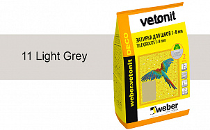 Затирка для швов weber.vetonit Deco 11 Light grey