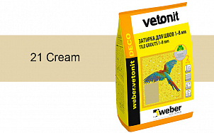 Затирка для швов weber.vetonit Deco 21 Cream