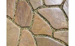 Песчаник бежево-коричневый с разводами галтованный