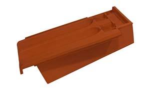 Керамическая черепица боковая правая Koramic Tradi 12 (Tradi Nova) Copper Brown Engobe