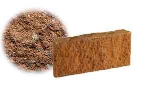 Облицовочный бетонный камень рядовой Меликонполар СКЦ 2Л-17 коричневый 3%