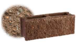 Облицовочный бетонный камень рядовой Меликонполар СКЦ 2Л-9 коричневый 5%