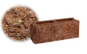 Облицовочный бетонный камень торцевой Меликонполар СКЦ 2Л-9 коричневый 3%