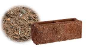 Облицовочный бетонный камень торцевой Меликонполар СКЦ 2Л-9 коричневый 5%