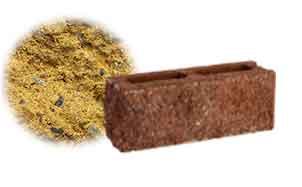 Облицовочный бетонный камень торцевой Меликонполар СКЦ 2Л-9 желтый