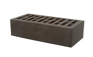Кирпич лицевой керамический пустотелый Тербунский гончар графит (черный) гладкий 250*120*65 мм (г. Липецк)