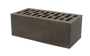 Кирпич утолщенный пустотелый Тербунский гончар графит (черный) утолщенный гладкий 250*120*88 мм (г. Липецк)